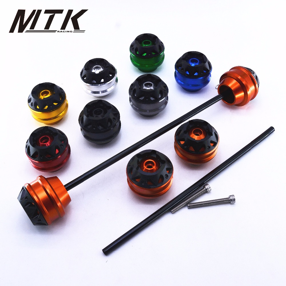 MTKRACING Free delivery for KTM 390 DUKE 2013-2015 CNC Modified Motorcycle Front wheel drop ball / shock absorber motorcycle adjustable cnc aluminum brakes clutch levers set motorbike brake for ktm 690 smc smc r duke duke r 2012 2013