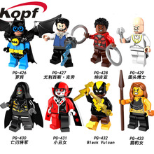 Egyszeri eladó szuperhősök Robin Harley Quinn Ulysses Klaw Legia Corvues Glaive Gepárd építőelemek Gyermek Ajándék Játékok PG8111