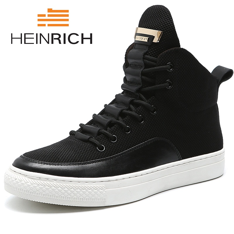 HEINRICH Genuine Leather Winter Boots Mens Work Shoes Warm Military Boots Men Winter Shoes Zapatillas Hombre Deportivas Casual mens shoes warm fur boots men casual shoes male genuine leather zapatos winter snow boots zapatillas hombre plus size 38 50
