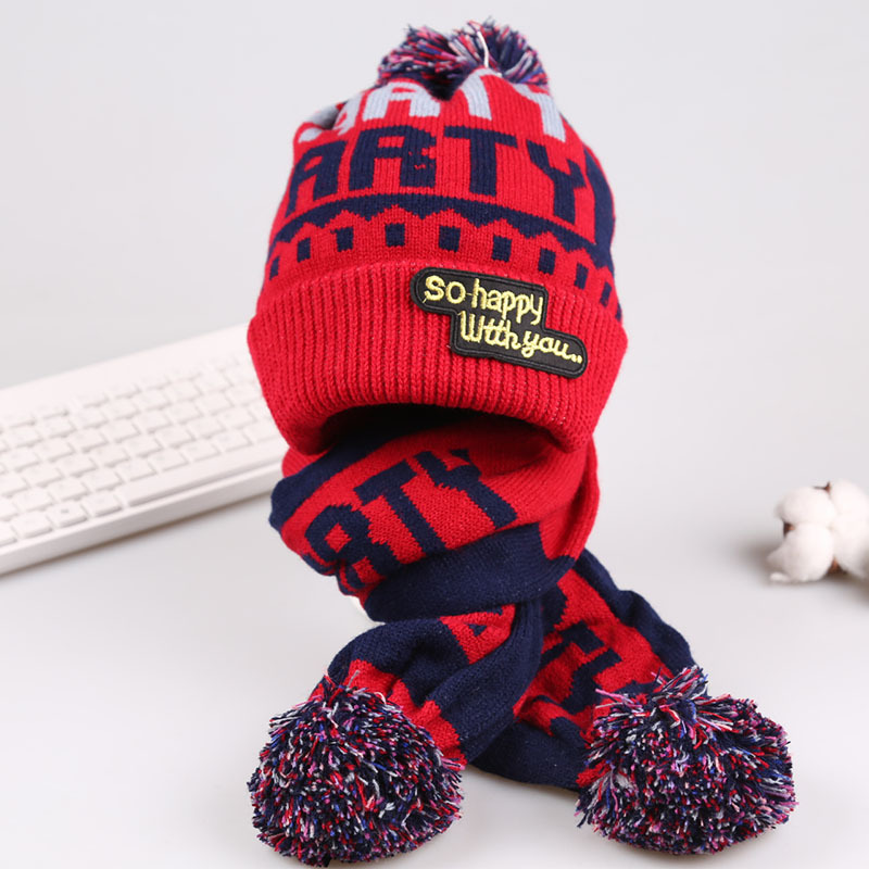 Children Hat Scarf Set Beanie Knit Baby Scarf Pattern Winter Hats For Girls Boys Fotografia Age 2 3 4 5 6 7 8 9 10 11 12 Years In Hats Caps From
