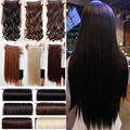 """cheapest real 3/4 full head clip in on hair extensions Extention straight 26"""" 66CM 1 piece 100% Great Quality Black Brown Purple"""