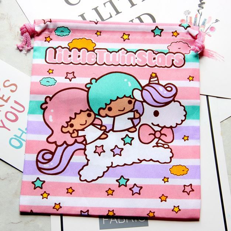1 Pc Lovely Cartoon Little Twin Stars Coin Purse Melody Coin Bag Pudding Dog Drawstring Storage Bag Plush Toy For Girl Gift