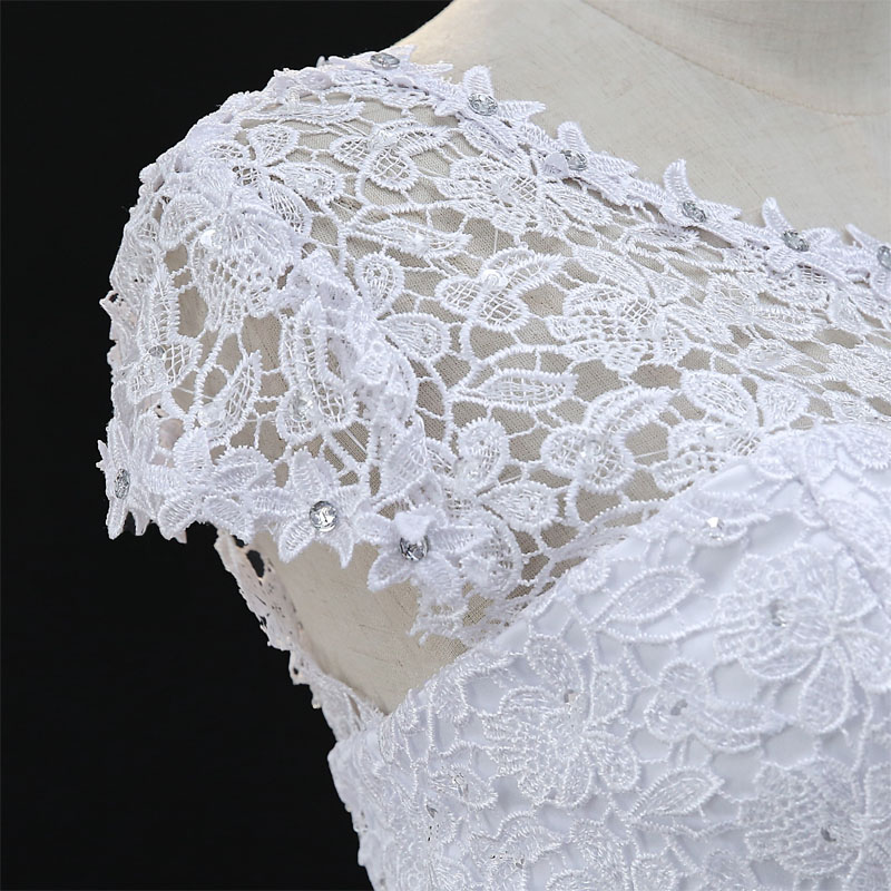 Fansmile Short Sleeve Vintage Lace Up Ball Wedding Dresses 2019 Vestidos de  Novia Plus Size Bridal Dress Wedding Gown Real Photo-in Wedding Dresses  from ... fae7b451e6f3