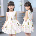 Girls Gress Princess Dress for Party Wedding  Costumes Clothes 2107 Summer Cute Kids Print Sleeveless Dress