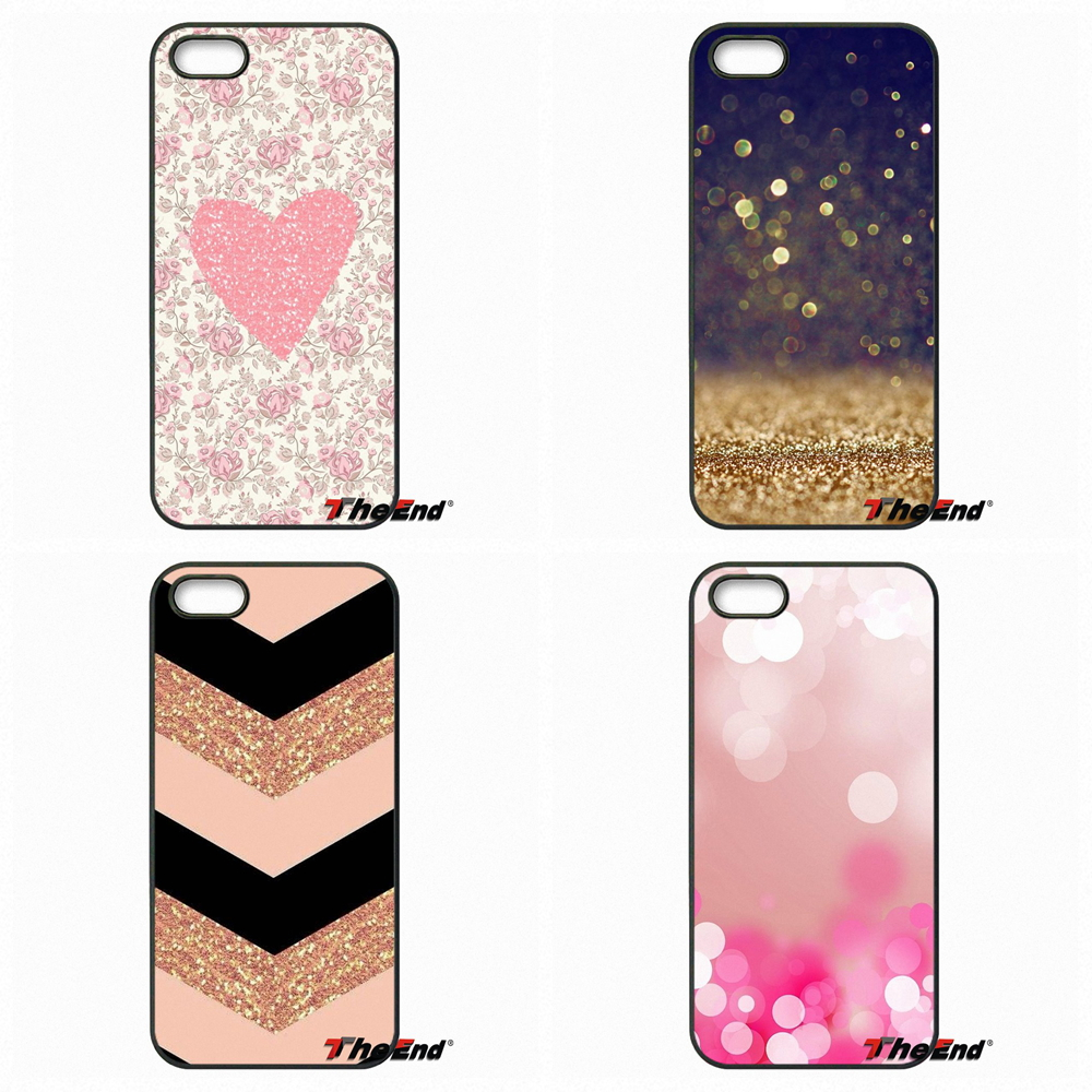 Rose Gold Glitter Sparkles Good Hard Phone Case For HTC One M7 M8 M9 A9 Desire 626 816 820 830 Google Pixel XL One Plus X 2 3