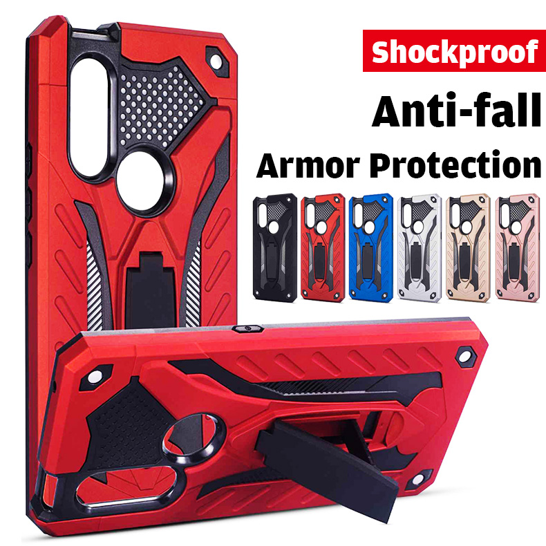 For Vivo Y91 Y93 Y95 Y97 Y91i Y91C Case Luxury Armor Shockproof Full Protective Cover With Holder Stand Accessories Case