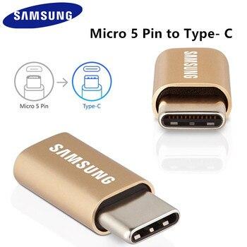 100% оригинальная официальная samsung Micro USB к Тип C конвертер для Galaxy S8/S8 + S9/S9 + A3 A5 2017 Note 8 для LG V20 для xiaomi 5