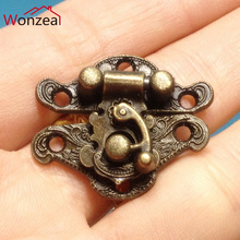 1pc/2pcs/6pcs 28*23mm small wooden box hasp buckle Hasp Jewelry Wooden Box Lock Catch Latches Buckle Clasp Hardware Alloy Buckle