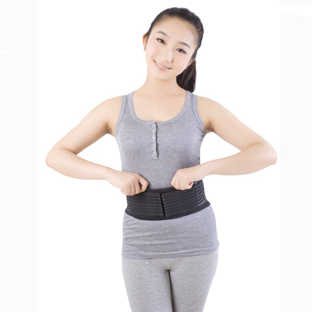 Adjustable Magnetic Therapy Waist Belt Tourmaline Self-heating Waist Support Back Pain Relief
