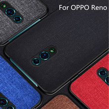 цена на For OPPO Reno Case reno back cover Soft TPU Silicone Luxury fabric shockproof Cove phone case coque For OPPO Reno cover