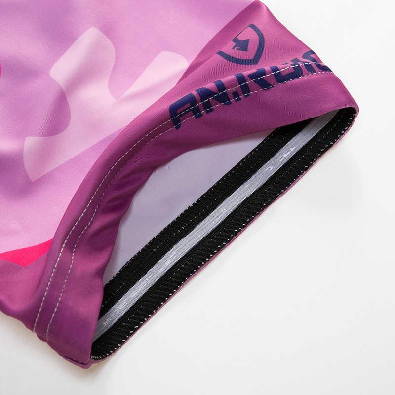 Wanita Musim Semi Musim Panas Bersepeda Bib Celana Pendek Ungu Kamuflase anti-keringat 3D Bantal Perlindungan Disesuaikan/Grosir Layanan