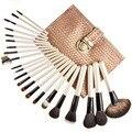 2016 nuevo estilo superior del grado 22 UNIDS ratán sistema de cepillo del maquillaje sexy girl venta como las tortas calientes del producto herramienta de pincel de maquillaje de moda kit