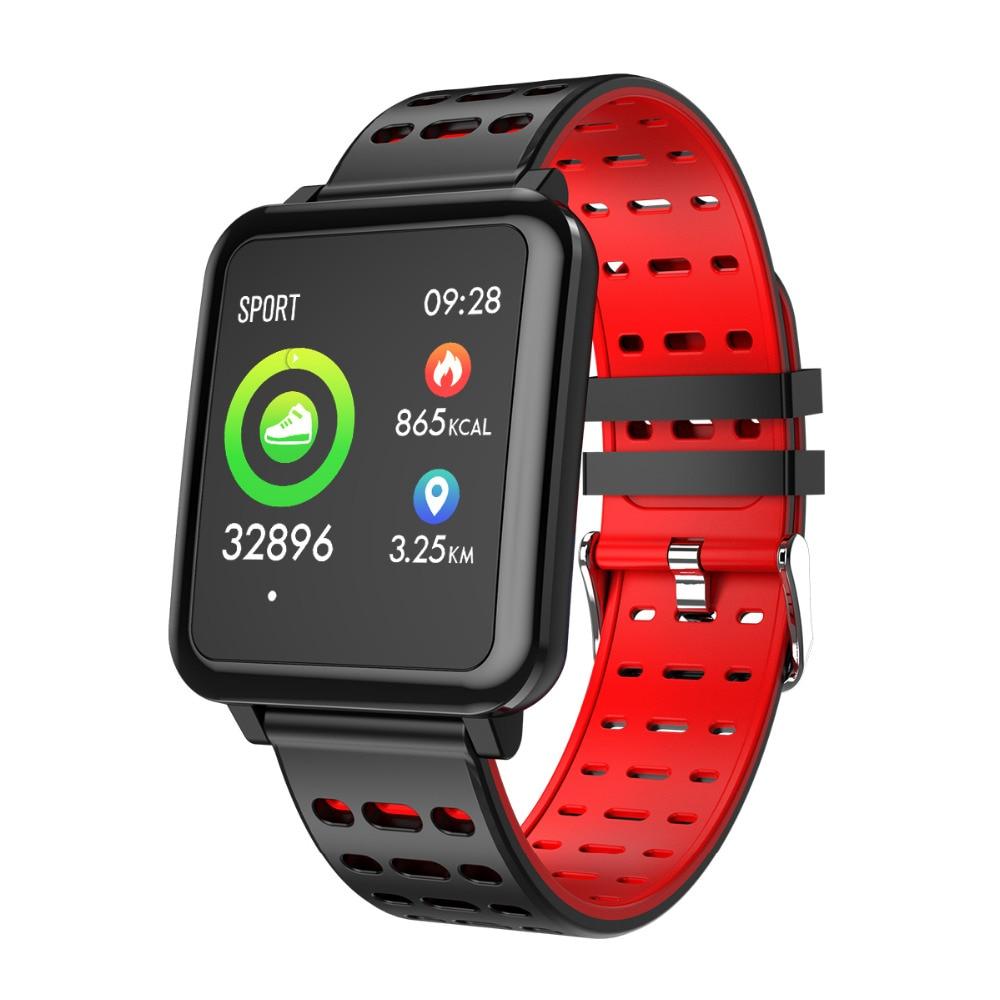 Q8 Smartwatch Bluetooth podómetro Monitor de ritmo cardíaco Color reloj inteligente IP67 impermeable Dispositivo portátil para Android/IOS