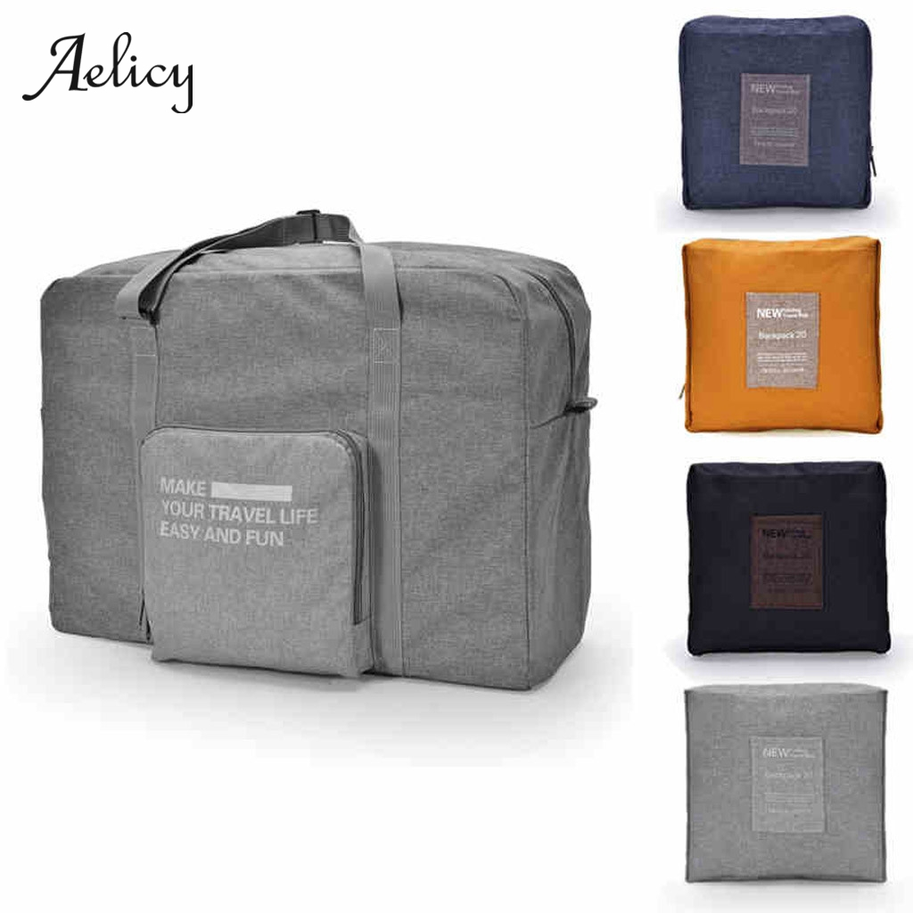 Aelicy Duffle-Bag Weekend-Bag Packing-Cubes Travel-Organizer Foldable Cotton Large Women