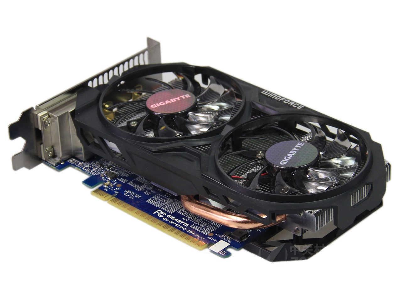 Ban đầu GIGABYTE GV-N75TOC-2GI Video Thẻ GPU 128Bit GDDR5 GTX 750TI GTX750 Card đồ họa cho NVIDIA Geforc Videocard Bản Đồ