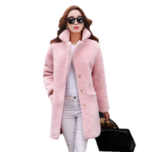 Winter Women Imitation Wool Lamb Fur Coat New Style Fashion Solid color Jacket Casual Loose Large size Female Coat NZYD1247