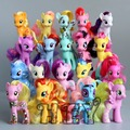 HEY 8CM my rainbow horse toys decoration PVC Figures poni Kids Doll colourful model girl's Christmas birthday gift doll