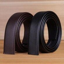 big plus size automatic microfiber leather belt without buckle long strap 110 cm 120 130 140 150 160 brown black mens 170 180