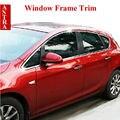 Vauxhall Opel Astra J Aço Inoxidável Moldura Da Janela Da Guarnição Soleira Tampa Quadro para 2010-2014 Astra Styling Acessórios Do Carro 12 pçs/set