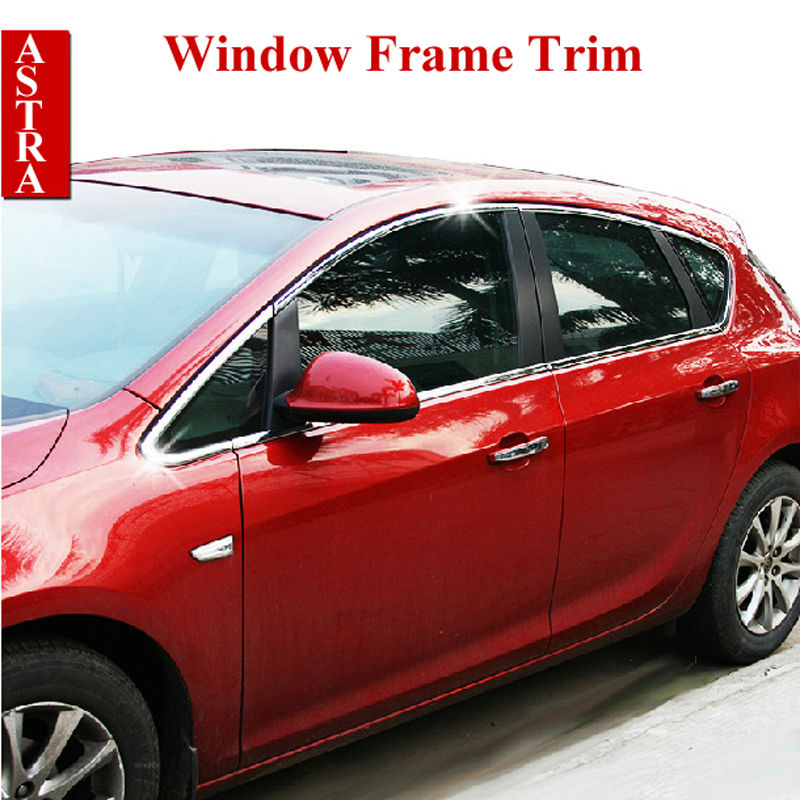Vauxhall Opel Astra J Stainless Steel Window Frame Trim Sill Cover Frame for 2010- 2014 Astra Car Styling Accessories 12pcs/set tommia 4pcs stainless steel chrome bottom window frame sill trim for hyundai ix35 car accessories