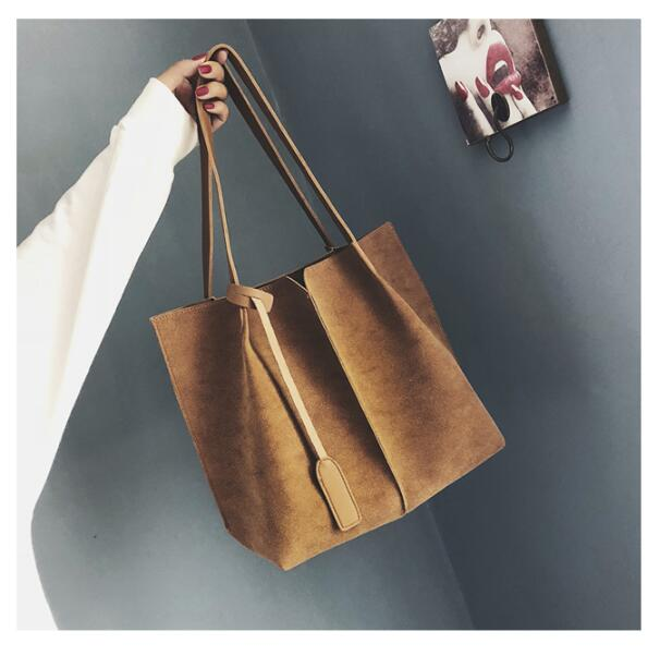 Fashion newest design women's tote handbag nubuck leather large capacity shoulder bag women's vintage handbag casual s 5985d