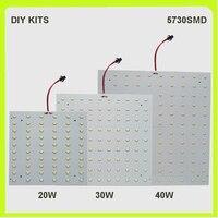 Chegada nova kits diy 2 ano de garantia 5730smd 20 w 30 w 40 painel led placa quadrada pcb led techo luminários 220 v 230 v 240 v 40w led panel led plateled panel 40w -
