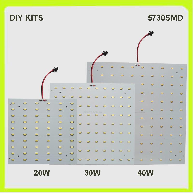 New Arrival DIY Kits 2 YEAR WARRANTY 5730SMD 20W 30W 40W LED Panel Led Plate Square PCB LED Techo Luminaries 220V 230V 240V
