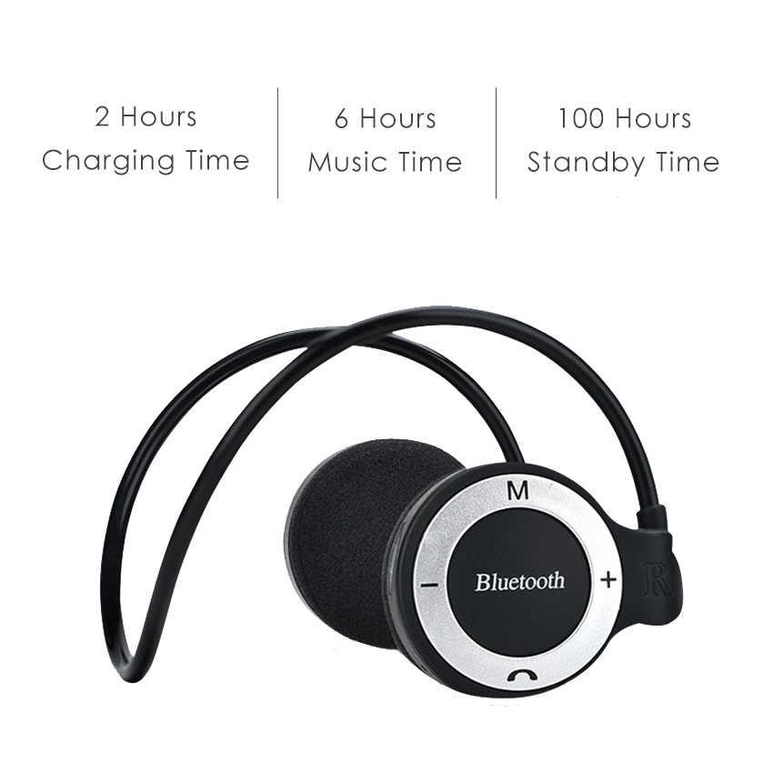 Aimitek с шейным ободом спортивные беспроводные Bluetooth наушники стерео наушники, стерео плеер гарнитуры TF слот для карт микрофон VS Mini 503