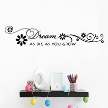 Beauty English Proverb Wall Mural Removable Decal Children stickers Background Art