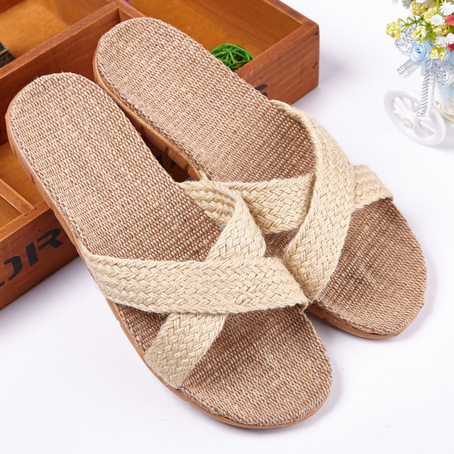 2017 New Arrival Men Women Cross-tied Home Slippers Candy Color Pantufa Beach Sandals Indoor Zapatos Hombre Mujers