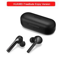 오리지널 HUAWEI FreeBuds lite 무선 이어폰 이어폰 더블 클릭 컨트롤 (충전 박스 포함) IP54 HUAWEI freebuds enjoy