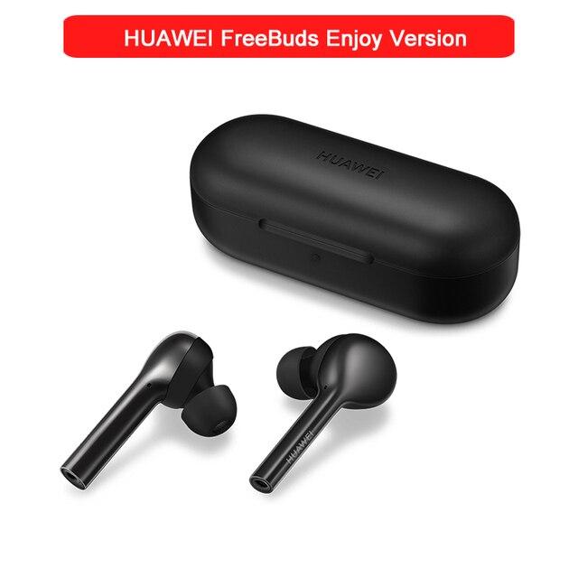 Original HUAWEI freebud lite sans fil écouteur dans loreille Double clic contrôle avec boîte de charge IP54 HUAWEI freebud profiter