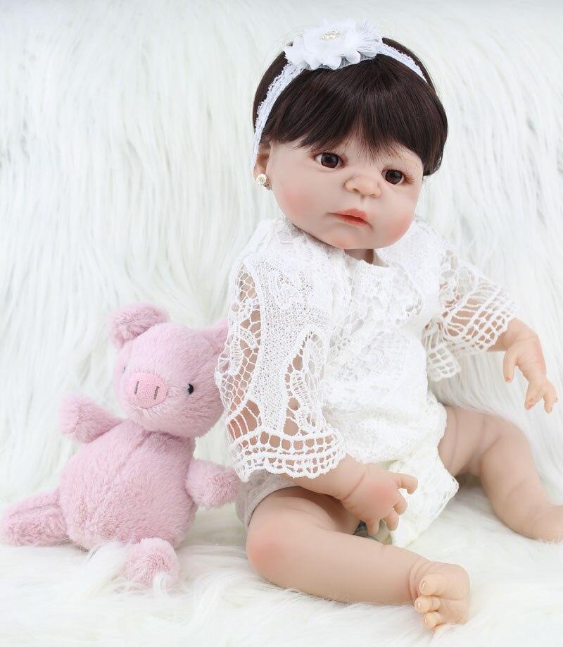 55cm corpo inteiro silicone bebe reborn menina 05