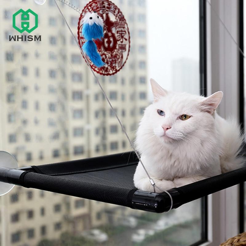 Whism Atmungsaktive Katze Hangematte Starken Saugnapf Fenster
