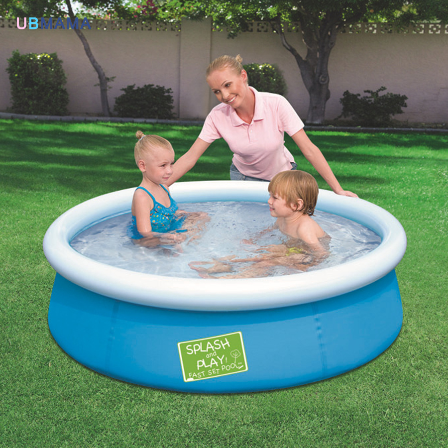 Thickening super solid adult paddling pool saucer family children pool garden paddling pool 152*38CM bestway round baby pool baby wading pool thick folder mesh stent pool children bathing pool 152 38cm