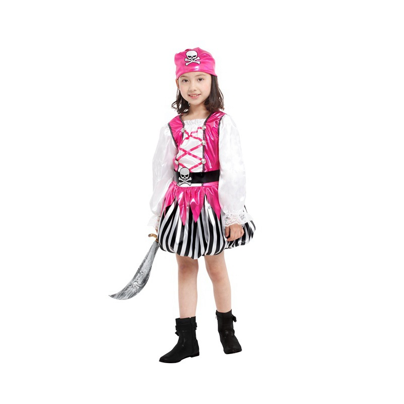 pirate costume for girls kids Christmas carnaval halloween costumes for gril baby piraat pirates children child cosplay dress