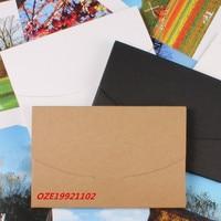 10 Pcs 10 5x16 0 5cm Kraft Paper Postal Card Postcard Photo Packaging Box Envelope Bag