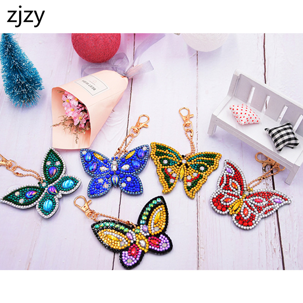 ZJZY 2019 5D DIY Diamond Painting Cartoon Butterfly