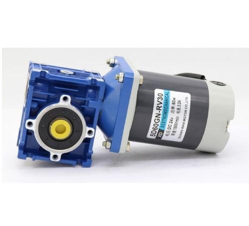 60w NMRV30 Worm Gear Motor 12v 24v DC Worm Gear Reducer Motor RV30 Auto-Gear Lock CW CW