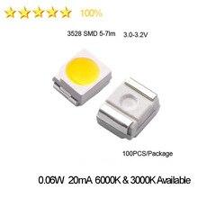 High Brightness 1210 3528 2835 SMD LEDS TV Diodes 5-7lm 3.0-