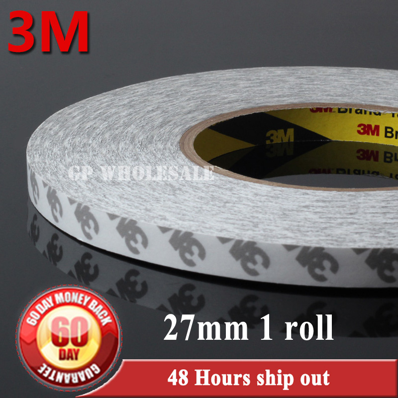 1X 27mm*50 meters Length 3M 9080 Double Sided Adhesive Tape for Electrical Panel LCD Repair, LED Strip Bond 6mm 50 meters 3m 9080 double sided adhesive tape for phonetablet screen dispaly led strip adhesive common using