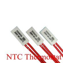цена на 10pcs Thermostat KSD9700 200C 210C 220C 230C 240C 5A250V Ceramics Bimetal Disc Temperature Switch Protector degree centigrade
