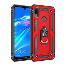 For Huawei Y6 2019/Honor 8A Case Military Armor Magnetic Ring Stand Shockproof Cover Y7 2019/Y7 Pro Prime 2019