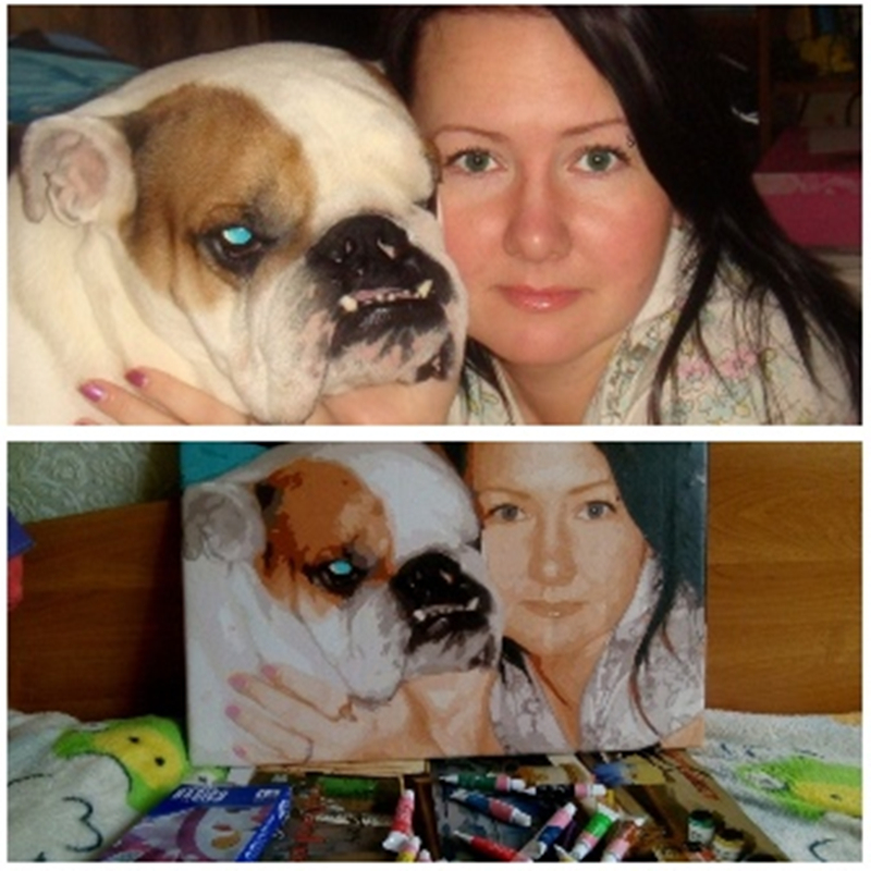 £DiscountDrop Shopping Photo Custom Wedding Family Pet Photos Paint By Numbers Private Custom Digital Oil Painting Art Gift
