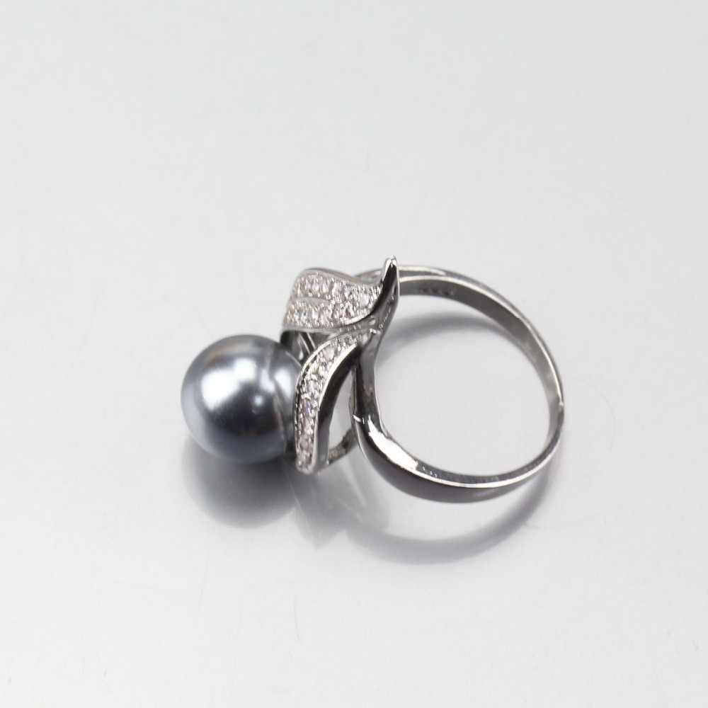11.11 venda quente 925 prata cinza natural pérola conjuntos de jóias brincos pingente colar anel para mulher decoração de fantasia