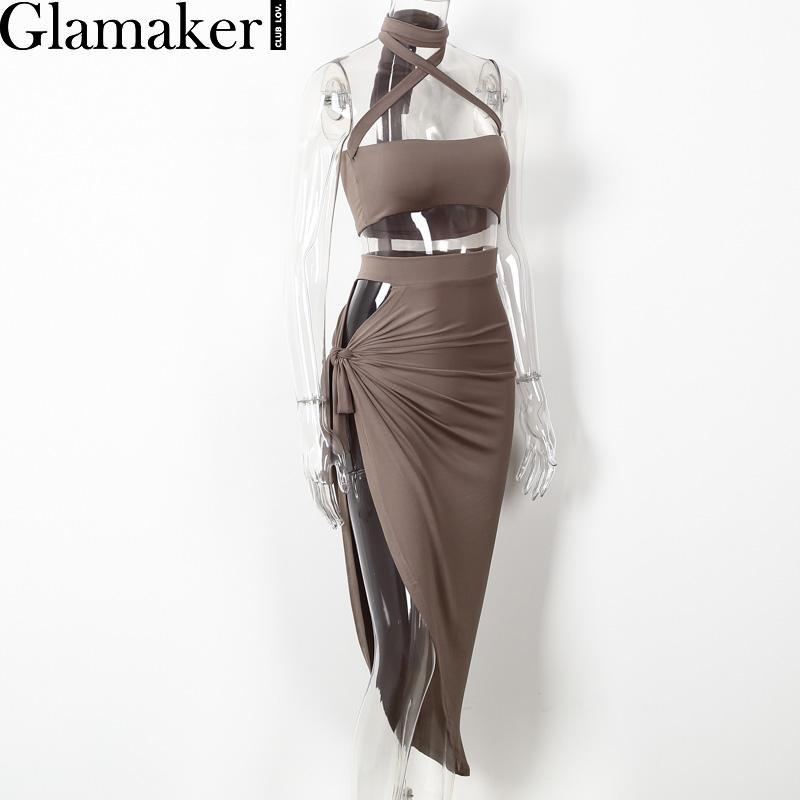 Glamaker-Halter-Two-Piece-Split-Sexy-Women-Dress-Elegant-Evening-Party-Dress-Ves