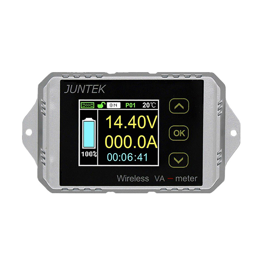 VAT1300 Color Multifunction Digital LED Wireless mode Power Meter Measure Volt Current Meter Power Capacity KWh Coulomb Meter