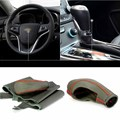 Top Cowhide Sew-on Genuine Leather Steering Wheel Cover For Chevrolet Malibu