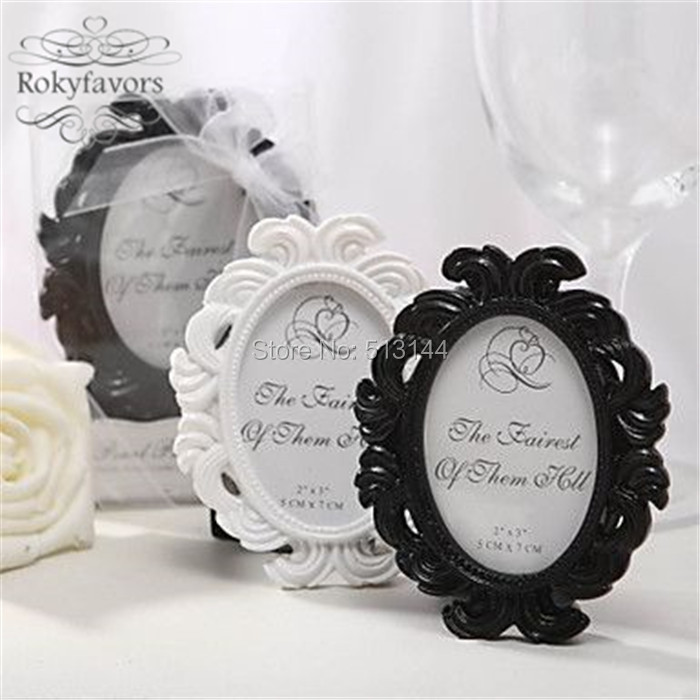 Free Shipping 100pcs Elegant Baroque Mini Frame Victorian Style Place Card Holder Wedding Favors Party Bridal Shower In Diy Decorations From