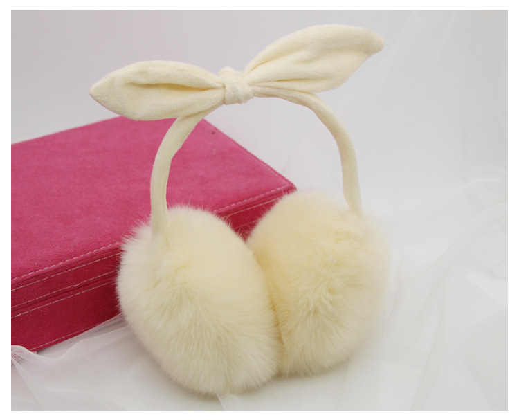 2018 New Ccasual Fashion Exquisite Simple Plush Material Winter Warm Cute Anti-rabbit Ear Shape Earmuffs Women's Earmuffs